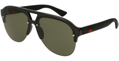 Sunglasses - Gucci - GG0170S - 001 BLACK // GREEN