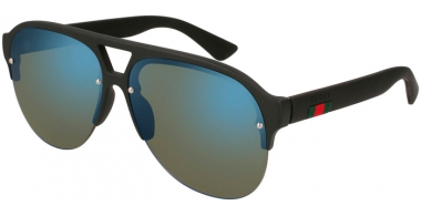 Sunglasses - Gucci - GG0170S - 002 BLACK // BLUE MIRROR