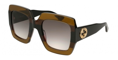 Gafas de Sol - Gucci - GG0178S - 003 MULTICOLOR BLACK // GREY GRADIENT