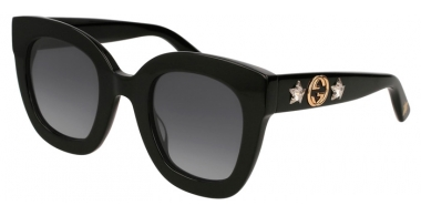 Sunglasses - Gucci - GG0208S - 001 BLACK // GREY GRADIENT