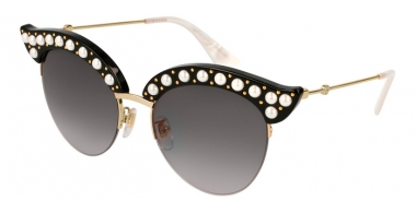 Gafas de Sol - Gucci - GG0212S - 001 BLACK GOLD // GREY GRADIENT