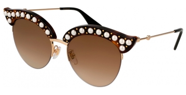 Gafas de Sol - Gucci - GG0212S - 002 HAVANA GOLD // BROWN GRADIENT