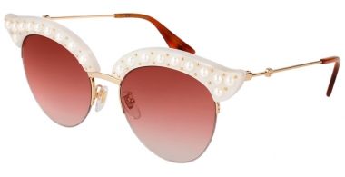 Gafas de Sol - Gucci - GG0212S - 003 WHITE GOLD // RED GRADIENT