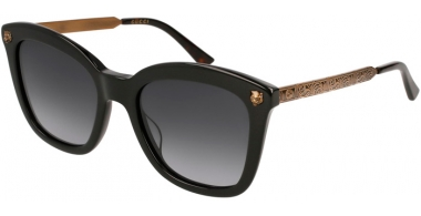 Gafas de Sol - Gucci - GG0217S - 001 BLACK GOLD // GREY GRADIENT