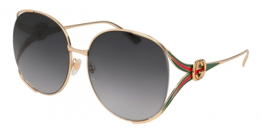 Sunglasses - Gucci - GG0225S - 001 GOLD // GREY GRADIENT