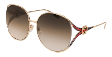 Gafas de Sol - Gucci - GG0225S - 002 GOLD // BROWN GRADIENT