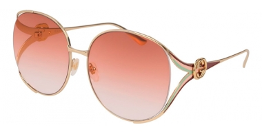 Gafas de Sol - Gucci - GG0225S - 005 GOLD // ORANGE GRADIENT