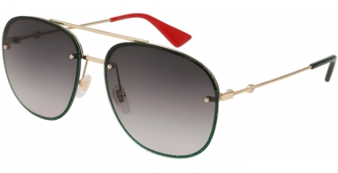 Sunglasses - Gucci - GG0227S - 001 GOLD GREEN // GREY GRADIENT
