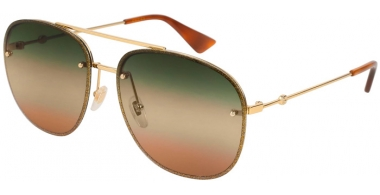 Sunglasses - Gucci - GG0227S - 004 GOLD  BROWN // MULTICOLOR GRADIENT