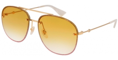 Sunglasses - Gucci - GG0227S - 005 GOLD // YELLOW GRADIENT