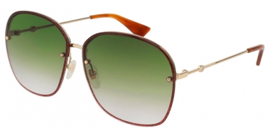 Sunglasses - Gucci - GG0228S - 001 GOLD BURGUNDY // GREEN GRADIENT