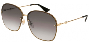 Sunglasses - Gucci - GG0228S - 002 GOLD BROWN // GREY GRADIENT