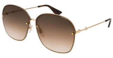 Sunglasses - Gucci - GG0228S - 003 GOLD BROWN // BROWN GRADIENT