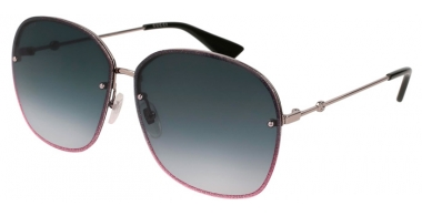 Sunglasses - Gucci - GG0228S - 004 RUTHENIUM VIOLET // GREY GRADIENT
