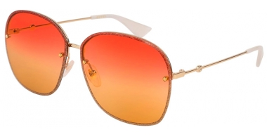 Sunglasses - Gucci - GG0228S - 005 GOLD // MULTICOLOR GRADIENT