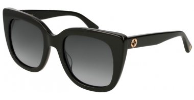 Sunglasses - Gucci - GG0163S - 001 BLACK // GREY GRADIENT