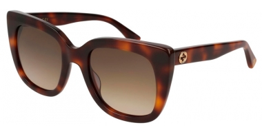 Sunglasses - Gucci - GG0163S - 002 HAVANA // BROWN GRADIENT