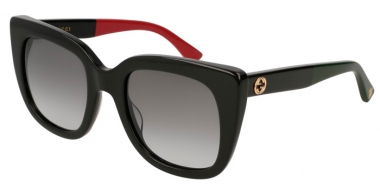 Sunglasses - Gucci - GG0163S - 003 BLACK RED // GREY GRADIENT