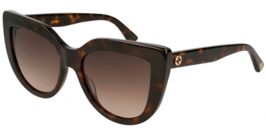 Sunglasses - Gucci - GG0164S - 002 HAVANA // BROWN GRADIENT