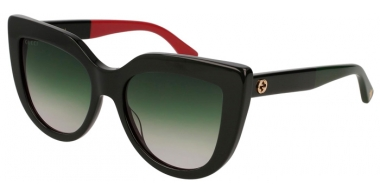 Sunglasses - Gucci - GG0164S - 003 BLACK // GREEN GRADIENT