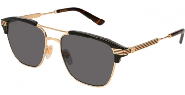Gafas de Sol - Gucci - GG0241S - 002 GOLD BLACK // GREY