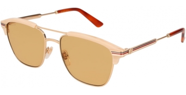 Gafas de Sol - Gucci - GG0241S - 004 GOLD PINK // LIGHT BROWN