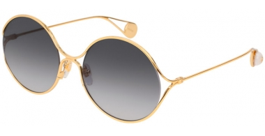 Sunglasses - Gucci - GG0253S - 001 GOLD // GREY GRADIENT