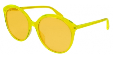 Sunglasses - Gucci - GG0257S - 004 YELLOW // YELLOW