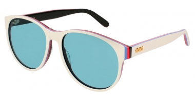Gafas de Sol - Gucci - GG0271S - 006 WHITE // LIGHT BLUE