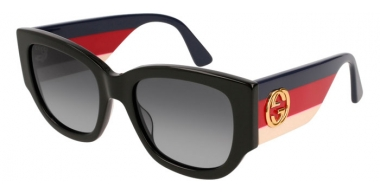 Gafas de Sol - Gucci - GG0276S - 001 BLACK MULTICOLOR // GREY GRADIENT