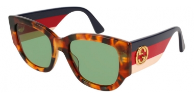 Gafas de Sol - Gucci - GG0276S - 004 LIGHT HAVANA MULTICOLOR // GREEN