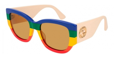 Gafas de Sol - Gucci - GG0276S - 006 MULTICOLOR WHITE // BROWN