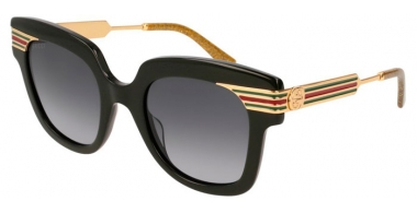 Sunglasses - Gucci - GG0281S - 001 BLACK GOLD // GREY GRADIENT