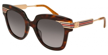 Sunglasses - Gucci - GG0281S - 002 DARK HAVANA GOLD // BROWN GRADIENT