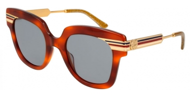 Sunglasses - Gucci - GG0281S - 003 HAVANA GOLD // BLUE