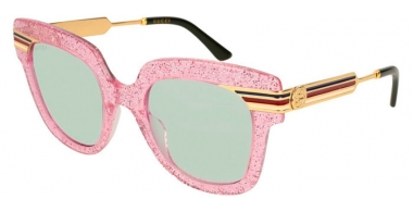Sunglasses - Gucci - GG0281S - 005 PINK GOLD // GREEN