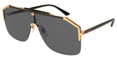 Sunglasses - Gucci - GG0291S - 001 BLACK GOLD // GREY