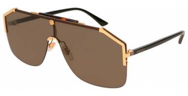 Sunglasses - Gucci - GG0291S - 002 BLACK GOLD // BROWN