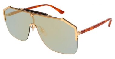 Sunglasses - Gucci - GG0291S - 005 HAVANA GOLD // BRONZE MIRROR