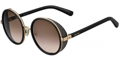 Sunglasses - Jimmy Choo - ANDIE/S - J7Q (J6) ROSE GOLD BLACK // BROWN GRADIENT