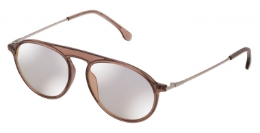 Sunglasses - Lozza - SL4206M  - 913X  TRANSPARENT CAMEL // BLUE MIRROR BRONZE