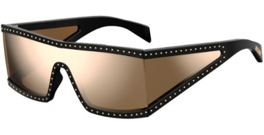 Lunettes de soleil - Moschino - MOS004/S - 2M2 (SQ) BLACK GOLD // MULTILAYER GOLD MIRROR