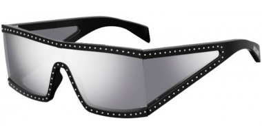 Lunettes de soleil - Moschino - MOS004/S - BSC (DC) BLACK SILVER // EXTRA WHITE MULTILAYER MIRROR