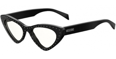 Sunglasses - Moschino - MOS006/S - 2M2 (99)  BLACK GOLD // TRANSPARENT