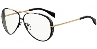 Sunglasses - Moschino - MOS007/S - 2M2 (99)  BLACK GOLD // TRANSPARENT