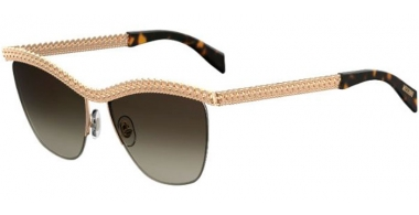 Sunglasses - Moschino - MOS010/S - 06J (HA)  GOLD HAVANA // BROWN GRADIENT
