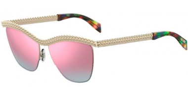 Sunglasses - Moschino - MOS010/S - PSX (VQ)  GOLD MULTICOLOR MULTILAYER // PINK MULTILAYER