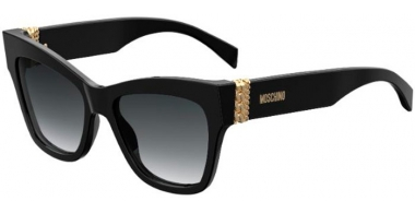 Sunglasses - Moschino - MOS011/S - 807 (9O)  BLACK // DARK GREY GRADIENT