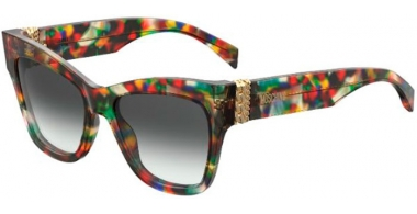 Sunglasses - Moschino - MOS011/S - F74 (9O)  PURPLE BLUE MULTICOLOR // DARK GREY GRADIENT