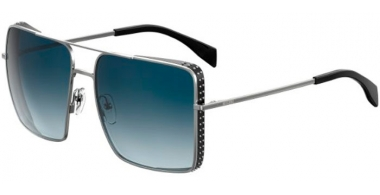 Sunglasses - Moschino - MOS020/S - 6LB (08)  RUTHENIUM // DARK BLUE GRADIENT